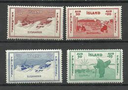 ISLAND 1933 Michel 168 - 171 MNH - Ungebraucht