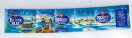 """étiquette Fromage Bresse Bleu  Abbaye De Brou Bourg En Bresse  Servas Village, Bressans En Costume Traditionnel """"1998"""" - Kaas"""