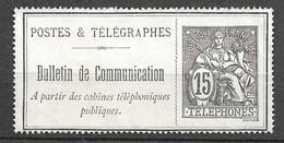 France Timbre Télégraphe YT N° 23 Neuf (*). B/TB. A Saisir! - Telegrafi E Telefoni