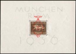Dt REICH 1937, BLOCK 10, BRAUNES BAND MIT ROTEM AUFDRUCK, POSTFRISCH, Mi. 200,- - Bloques