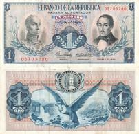 Colombia / 1 Peso / 1964 / P-404(c) / VF - Colombia