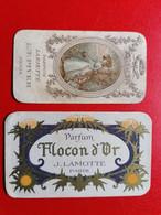 France Paris Flacon D'Or J.Lamotte 1913 + Parfum Lariette L.T.Piver 1911 - Vintage (until 1960)