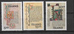 ISLANDA - 1970 - MANOSCRITTI ISLANDESI - SERIE 3 VALORI - NUOVA MNH**(YVERT 392\394 - MICHEL 439\441) - Ungebraucht