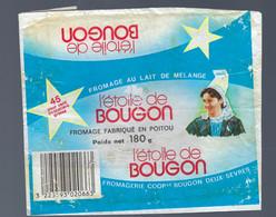 étiquette Fromage Au Lait De Mélange L'étoile De Bougon  45%mg 180g Fromagerie Coop De Bougon Deux Sevres 79 - Kaas
