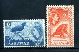 1955-57 SARAWAK N.190+192 MNH ** - Sarawak (...-1963)
