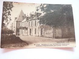 Carte De Remilly-les-Pothées  , Château D'Hardoncelle Par Lonny.  Petit Prix - Altri Comuni