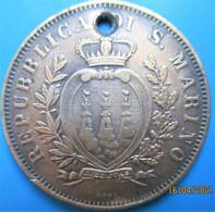 SAINT-MARIN,  écu Aux Trois Tours,  10 Centesimi  1893 R, TB - San Marino