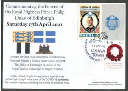 "(NN 25) Funeral Of HRH Prince Philip, Duke Of Edinburgh - With Nauru Island Prince Philip + ""red"" ANZAC - 17-4-2021 - Case Reali"