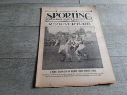 Sporting Journal Sportif Illustré 1925 Réouverture Roubaix Suisse Football Athlétisme Prix Roosevelt Cyclisme Debaets - Sport