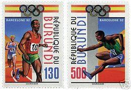 Olympics 1992 - Athletics - BURUNDI - Set MNH - Verano 1992: Barcelona