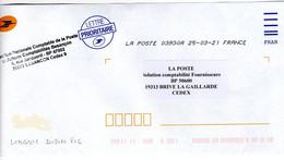 OMEC Toshiba Sur Une Ligne Enveloppe De Service Côte D'Or LONGVIC DIJON PIC Code ROC 03930A + Cachet Bureau De Besançon - Sellado Mecánica (Otros)