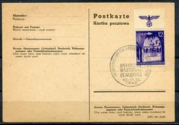 "German Empires Generalgouvernement  Stempelkarte Mit Mi.67 EF U.SST"" Lemberg-Behring Institut ""1 Beleg - Besetzungen 1938-45"