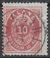 ISLANDA - 1876 - ORDINARIA - 10 AUR - USATO - DENT - 14X13,1\2 (YVERT 8A - MICHEL 8A) - Ohne Zuordnung