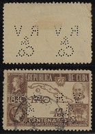 Cuba Stamp Issued 1940 Perfin RV/&/Co. FromRicardo Veloso Cultural From Havana - Other
