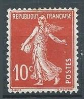 France YT N°138 Semeuse Fond Plein Neuf/charnière * - 1906-38 Sower - Cameo