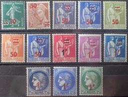 DF40266/1937 - 1940/1941 - TYPE PAIX MERCURE Et CERES - N°476 à 488 NEUFS**(10)/*(1)/(*)2 - Nuovi