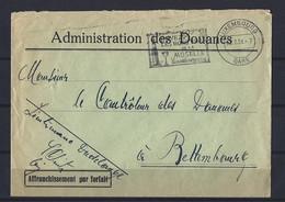 Luxembourg: Lettre Avec Flamme (Buvez Les Bons Vins De La Moselle) - Affranchissement Par Forfait - Covers & Documents