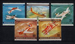 Mongolia,  Mongolei,  1980,  Flugzeuge, Aircrafts - Mongolia