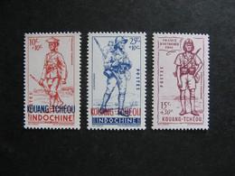Kouang-Tchéou: TB Série N° 135 Au N° 137 . Neufs X. - Neufs