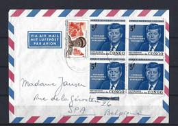Rép. Dém. Du Congo: Lettre Par Avion  Pour La Belgique ( John F. Kennedy) - Covers