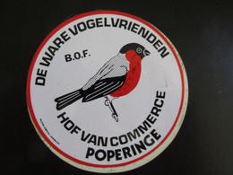 Sticker Ware Vogelvrienden Hof Van Commerce Poperinge - Stickers
