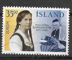 ISLANDA - 1996 - EUROPA - DONNA ISLANDESE  - 35,00 - USATO (YVERT 797 - MICHEL 844) - Gebraucht