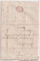Lettre De Rennes à Guingamp Monsieur Le Comte De Lagadec Datée 11juillet 1759                        L1 - 1701-1800: Precursori XVIII