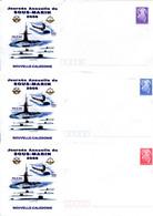 Nouvelle Calédonie - Entier Postal Yvert 211 à 213 E Journée Annuelle Du Sous-marin - R 6200 - Postal Stationery