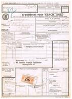 NS Spoorweg Vrachtbrief - Rotterdam 1936 40 Cent Geel Spoorwegzegel - Tren