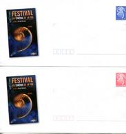 Nouvelle Calédonie - Entier Postal Yvert 214 & 215 E Festival Du Cinéma - R 6201 - Postal Stationery