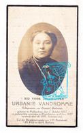 DP Foto - Urbanie Vandromme ° Pollinkhove Lo-Reninge 1877 † WestVleteren 1927 X Camiel Debreus - Devotieprenten