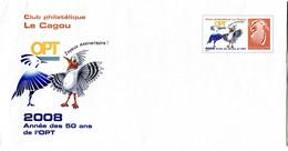 Nouvelle Calédonie - Entier Postal Yvert 259 E Club Philatélique Le Cagou - R 6206 - Postal Stationery