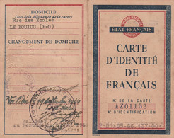 WW2 1943 ÉTAT FRANÇAIS - Carte D'Identité De FRANÇAIS Pour Marie BARRIS - Application LOI Du 27 Oct.1940 (non Juif) - Historische Dokumente