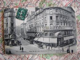 CPA PARIS RUE N.D DES VICTOIRES ET RUE MONTMARTRE Café Tabac Billard - Arrondissement: 02