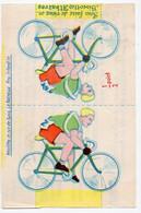 (cyclisme) Fontenay Le Comte (85 Vendée) BISCOTTES ALBATROS  Coureur Cycliste à Découper Et Coller (PPP28299) - Publicidad