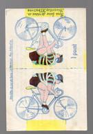 (cyclisme) Fontenay Le Comte (85 Vendée) BISCOTTES ALBATROS  Coureur Cycliste à Découper Et Coller (PPP28301) - Advertising