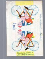 (cyclisme) Fontenay Le Comte (85 Vendée) BISCOTTES ALBATROS  Coureur Cycliste à Découper Et Coller (PPP28302) - Publicidad