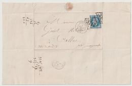 Lettre De Rennes à Callac Près Guingamp 8 Février 1868                   L3 - 1849-1876: Periodo Classico