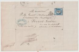 Lettre De Pacé à Callac Ou Perros-Guirec Dec. 1875                L4 - 1849-1876: Periodo Classico
