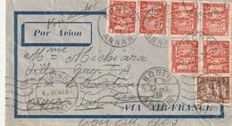 Lettre De Kontum Annam Du 27 7 1939 A Destination De La Tunisie - Covers & Documents