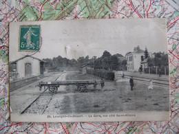Cpa 35 LOUVIGNE DU DESERT  La Gare  Vue Côté Saint Hilaire Timbre Taxe - Altri Comuni