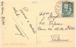 1940 Cartolina A.O.I Dire Daua Per Palermo - Marcofilía