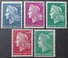 2598 - 1967/1969 - TYPE MARIANNE DE CHEFFER - SERIE COMPLETE - N°1535 à 1536B + N°1611 NEUFS** - Ungebraucht