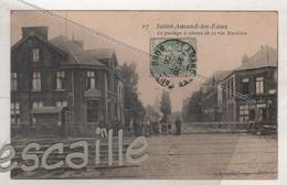 59 NORD CP ANIMEE SAINT AMAND LES EAUX - LE PASSAGE A NIVEAU DE LA RUE MARILLON - C. S. EDIT. LILLE N°27 - CIRCULEE 1906 - Saint Amand Les Eaux