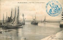 ILE DE GROIX PORT TUDY ARRIVEE DU VAPEUR CACHET BLEU 45em REGIMENT D'INFANTERIE - Groix