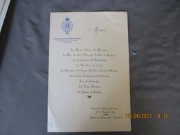 Champagne Delbeck Reims Restaurant Chalet Ecureuil Chambles Menu 1959 - Menus