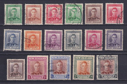 NEW ZEALAND 1938/47, SG# 603-609, 680-689, King George VI, Used - Used Stamps