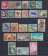 NEW ZEALAND 1960/66, SG# 781-802, Flowers, Fish, Used - Used Stamps