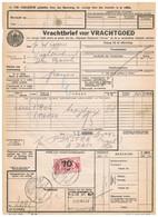 NS Spoorweg Vrachtbrief - Amsterdam 1942 70 Cent ROOD - Tren