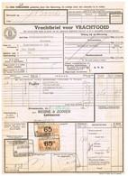 NS Spoorweg Vrachtbrief - Krommenie 1936 65 Cent Geel > Paartje! - Tren
